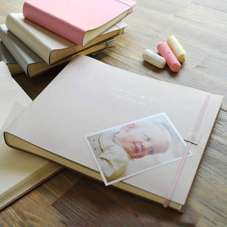Undercover Personalised Leather Baby Girl Photo Album Extra Large
