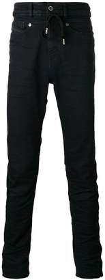Diesel Black Gold high waist drawstring skinny jeans