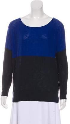 Vince Colorblock Long Sleeve Sweater