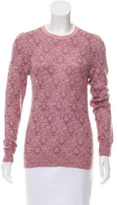 Dries Van Noten Patterned Mohair-Blend Sweater