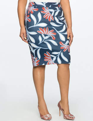 ELOQUII Reversible Neoprene Pencil Skirt