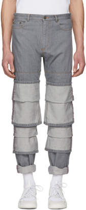 Y/Project Grey Triple Cuff Jeans