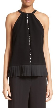 Women's Yigal Azrouel Pleated Halter Top $590 thestylecure.com