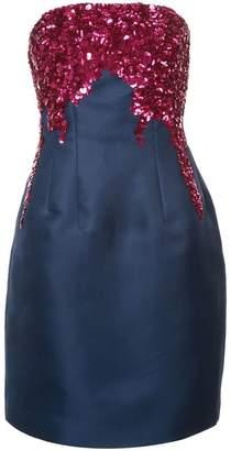 Oscar de la Renta sequin bodice short dress