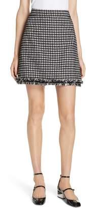 Kate Spade houndstooth tweed miniskirt