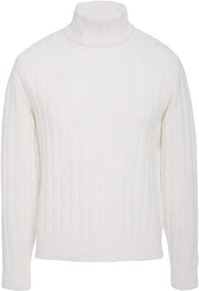 Ami Ribbed Turtleneck Sweater