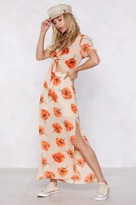 Nasty Gal Big Bold and Beautiful Floral Crop Top and Maxi Skirt