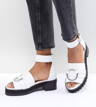 Asos DESIGN Fink Leather Gladiator Flat Sandals