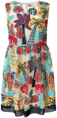 RED Valentino open weave embroidered dress