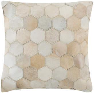 Safavieh Tiled Cowhide Pillow