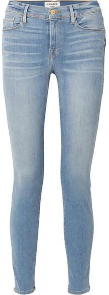 FRAME - Le Skinny De Jeanne Mid-rise Jeans - Mid denim
