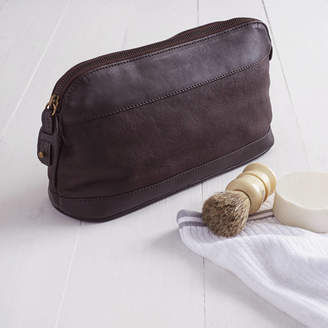 NV London Calcutta Personalised Corporate Gift Leather Wash Bag