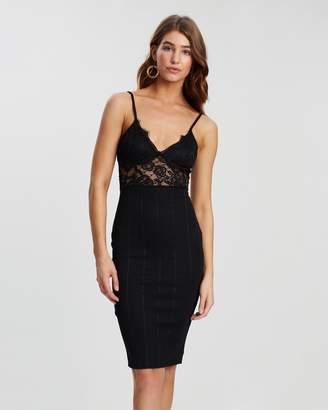 Missguided Lace Top Bandage Midi Dress