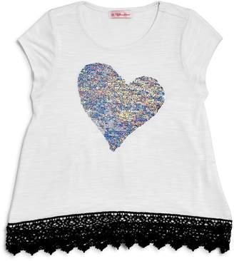 Design History Girls' Reversible-Sequin-Heart Tee