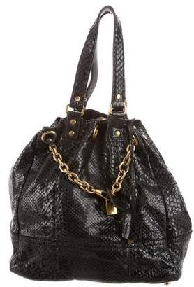Saint Laurent Snakeskin Leather Shoulder Bag