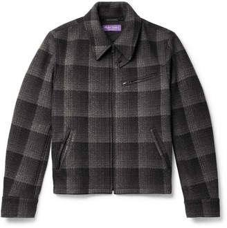 Ralph Lauren Purple Label Richland Checked Wool Blouson Jacket