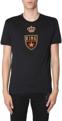 Dolce & Gabbana Patched Arms T-shirt