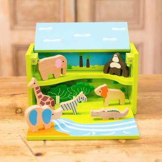 Harmony at Home Children's Eco Boutique Personalised Wooden Animals Play Box