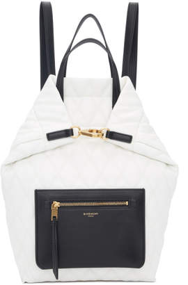 Givenchy White Small Duo Backpack
