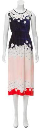 Mother of Pearl Silk Midi Dress