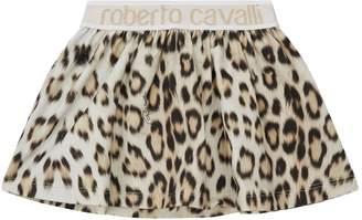 Roberto Cavalli Leopard Print Skirt