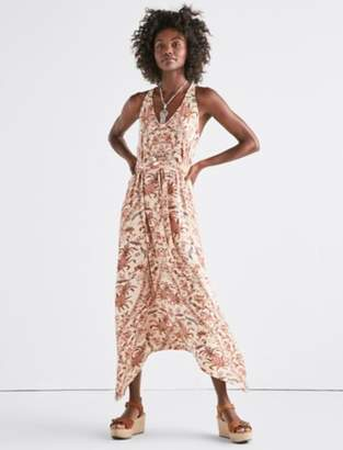 Lucky Brand PRINTED KNIT MAXI DRESS