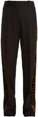 HILLIER BARTLEY Barathea contrast-panel linen trousers