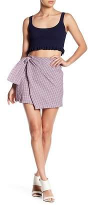 EMORY PARK Checkered Print Skirt
