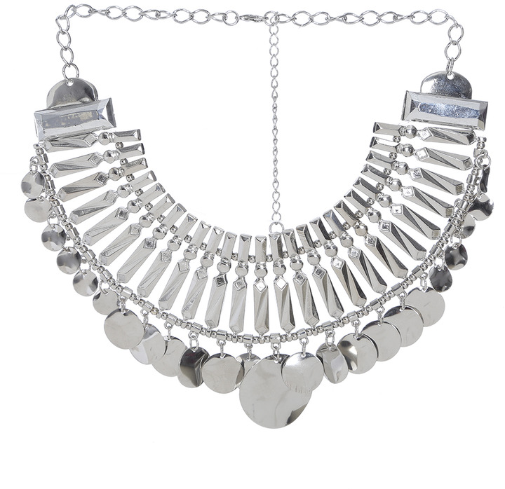 Arden B Glamor Bib Disc Necklace