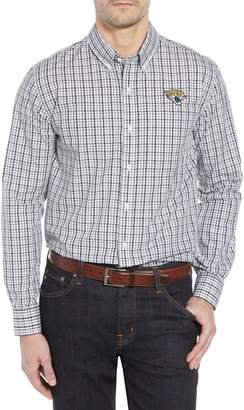 Cutter & Buck Jacksonville Jaguars - Gilman Regular Fit Plaid Sport Shirt