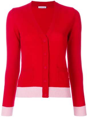 Moncler cashmere V-neck contrast cardigan