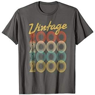 Vintage 2000 T-Shirt Retro Colors 18th Birthday Gift Shirt