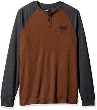 O'Neill Men's Long Sleeve Logo Henley Shirt
