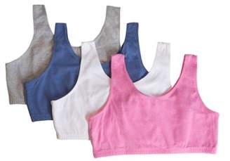 Fruit of the Loom Girls Cotton Sport Bra 4 Pack