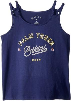 Roxy Kids Uphill Ride Palm Tree Bikini Tank Top Girl's Sleeveless