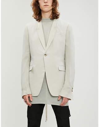 Rick Owens Soft striped cotton and silk-blend blazer