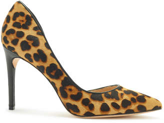Rachel Zoe London Leopard-Print Calf Hair dOrsay Pumps