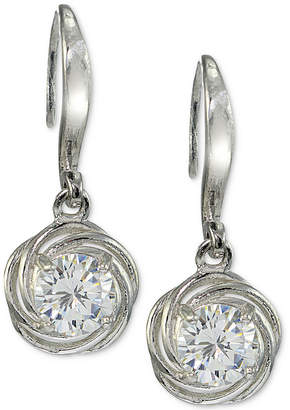 Giani Bernini Cubic Zirconia Love Knot Drop Earrings in Sterling Silver, Created for Macy's
