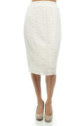 Moon Collection Dainty-Dots Pencil Skirt