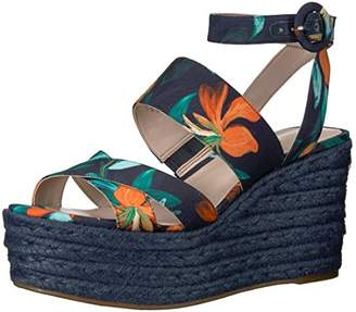 Nine West Women's Kushala Fabric Wedge Sandal