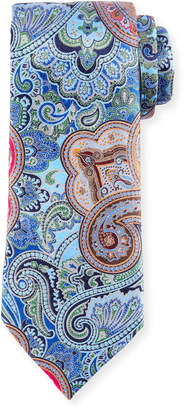 Ermenegildo Zegna Quindici Paisley Tie, Blue