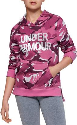 Under Armour Girl's Rival Cotton Blend Fleece Hoodie