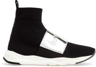 Balmain Knitted black running sneaker