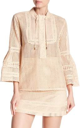 Paul & Joe Sister Lechesney Crochet Knit Blouse