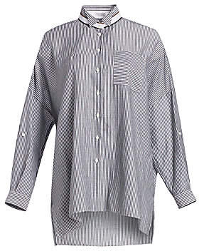 0ae4eeb7e68d1 Brunello Cucinelli Women s Oversize Striped Button-Down Shirt