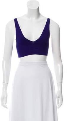 Cushnie Knit Crop Top w/ Tags Violet Knit Crop Top w/ Tags