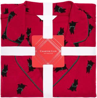 Charter Club Printed Cotton Flannel Pajama Set