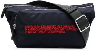 Calvin Klein slogan embroidered belt bag