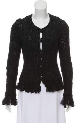 Chanel Crocheted Scoop Neck Cardigan