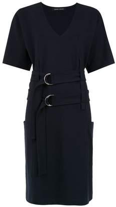 Gloria Coelho double buckle dress